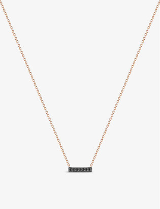 THE ALKEMISTRY Dana Rebecca 14ct rose-gold and black diamond necklace