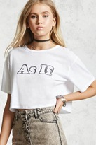Forever 21 As If Graphic Crop Top