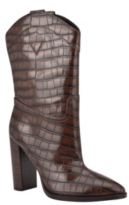 GUESS Marney Western Women's Regular Calf Dress Boots Women's Shoes