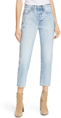 Frame Le Original Ripped High Waist Crop Jeans