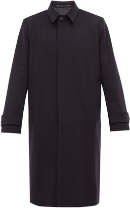 Paul Smith Brushed Wool And Cashmere-blend Coat - Mens - Navy
