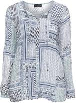Via Appia Plus Size Printed tie detail blouse