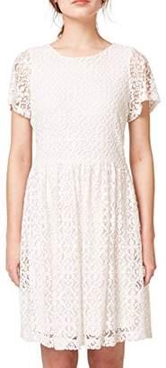 Esprit Women's 058ee1e002 Dress, (White 100), Small