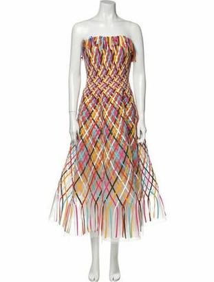 Oscar de la Renta 2020 Midi Length Dress Pink