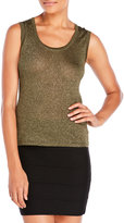 M Missoni Metallic Knit Tank Top