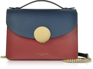Le Parmentier New Ondina Color Block Flap Top Leather Satchel Bag