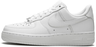 Nike Womens Air Force 1 07 'White on White' Shoes - Size 9.5W