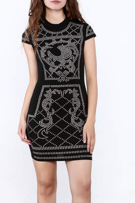 Banjul Black Studded Dress