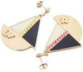 Louis Vuitton Float Your Boat Drop Pierce Gold Rhinestones Earrings