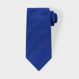 Paul Smith Men's Blue Textured Diagonal Stripe Silk Tie