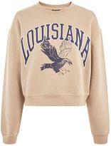 Topshop Louisiana Cropped Sweatshirt