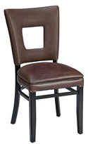 Regal Beechwood Square Open Back Skirted Upholstered Dining Chair