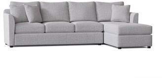 "Wayfair Custom Upholsteryâ""¢ 110"" Sectional Wayfair Custom Upholsterya Body Fabric: Zula Pumice, Sectional Orientation: Right Hand Facing"