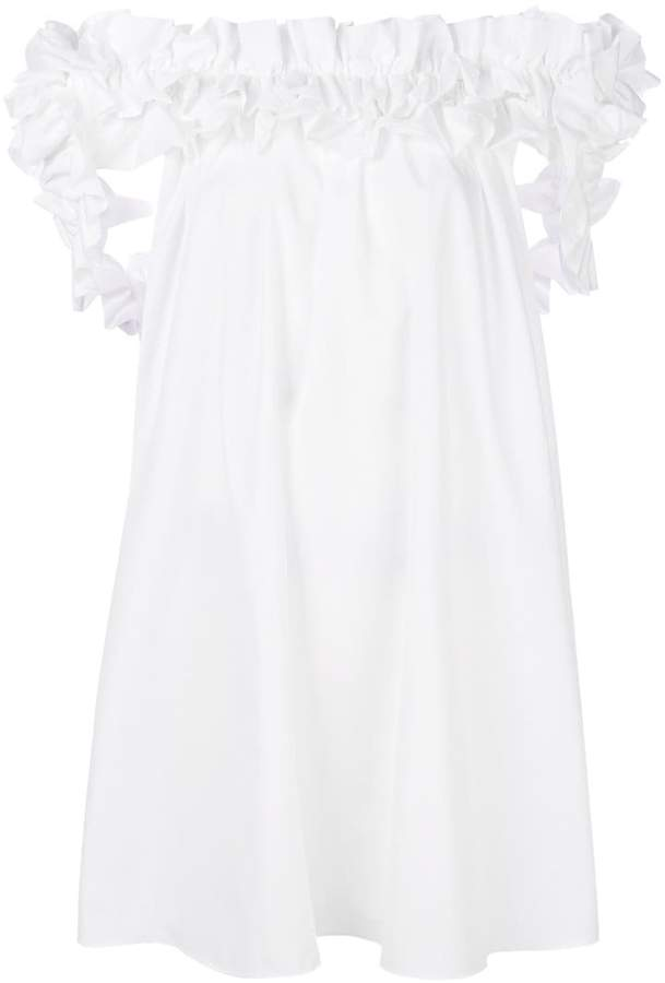 Alexander McQueen ruffled mini dress