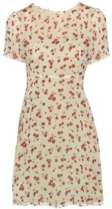 Natalie Ruffled Mini Dress, Cherry