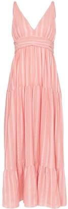 Lemlem Taytu plunge-neck striped sundress