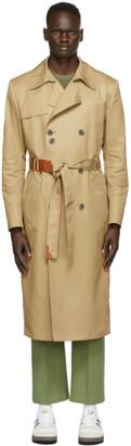 Ader Error Beige Torn label Trench Coat