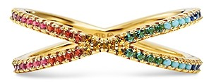Michael Kors Pave Rainbow Nesting Ring in 14K Gold-Plated Sterling Silver
