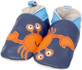 Jo-Jo JoJo Maman Bebe Crab Leather Soft Soled Shoes (Baby) - Navy-0-6 Months