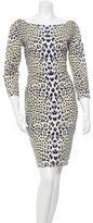 Just Cavalli Leopard Printed Knee-Length Dress