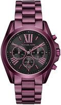 Michael Kors Women's Chronograph Bradshaw Plum Stainless Steel Bracelet Watch 43mm MK6398 - Limited Edition