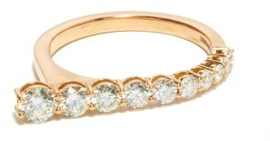 Melissa Kaye Aria Diamond & 18kt Rose-gold Ring - Rose Gold