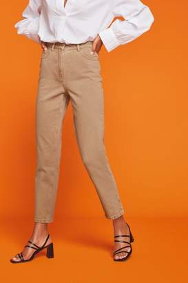 Next Womens Biscuit Mom Non-Stretch Jeans - Natural