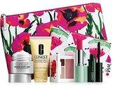 Clinique New 2016 7 pc Makeup Skincare Gift Set Pink Floral Bag (Warm)