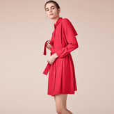 Maje Crêpe shirt dress