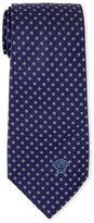Versace Navy Pixel Dot Silk Tie