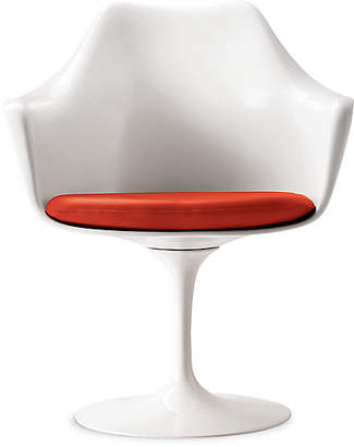 Design Within Reach Saarinen Tulip Armchair Fully Upholstered, Crimson
