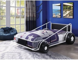 Zoomie Kids Collinsworth Race Twin Car Bed Bed Frame Color: White