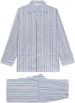 Derek Rose Mayfair 68 Blue Pyjama Set