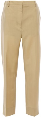 Burberry Gabardine-paneled Mohair And Wool-blend Tapered Pants
