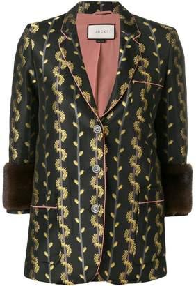 Gucci Pre-Owned metallic detail blazer jacket