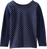 Joe Fresh Toddler Girls' Polka Dot Top, Cream (Size 5)