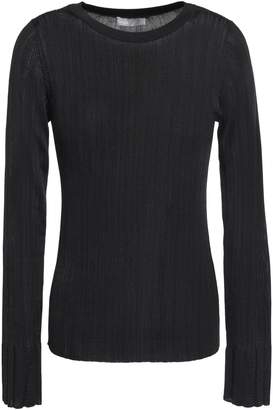 Vince Ribbed Jersey Sweater