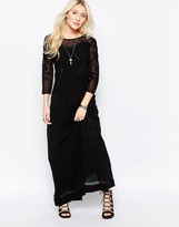 Free People Say You Love Me Lace Panel Maxi In Black