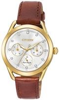 Citizen Women's Standard Leather Eco-Drive Watch, 38mm