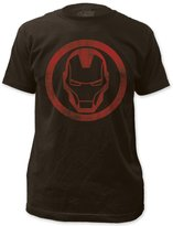 Impact Iron Man Superhero Marvel Comics Distressed Icon Adult Fitted Jersey T-Shirt Tee
