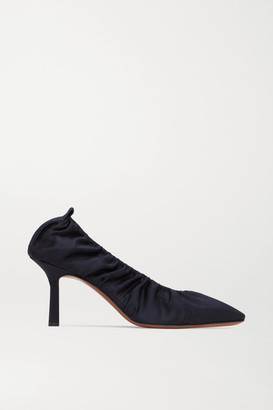 Neous Crater Gathered Satin Pumps - Black