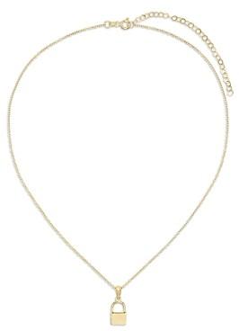 Adina's Jewels Mini Lock Pendant Necklace, 16-18