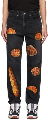 Doublet Black Hand-Painted Boulangerie Jeans