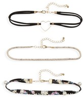Capelli of New York Girl's 3-Piece Choker Set
