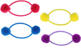Capelli New York Assorted Ponytail holders w/ Pompoms