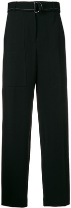 Joseph D-ring belted trousers