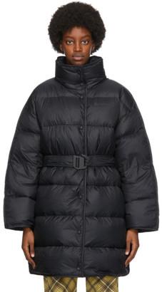Acne Studios Black Down Puffer Coat