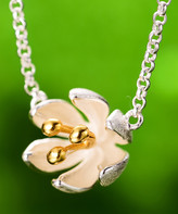 Lotus Fun Women's Necklaces Silver - Sterling Silver Flower Pendant Necklace