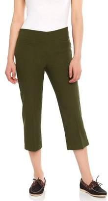 Leveret Women's Pull-On Comfort Fit Capri Dress Pants