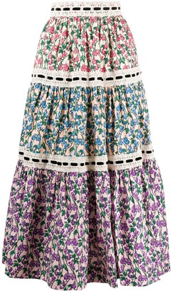 Marc Jacobs floral print A-line skirt